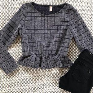 Ivana | Checkered Peplum Top